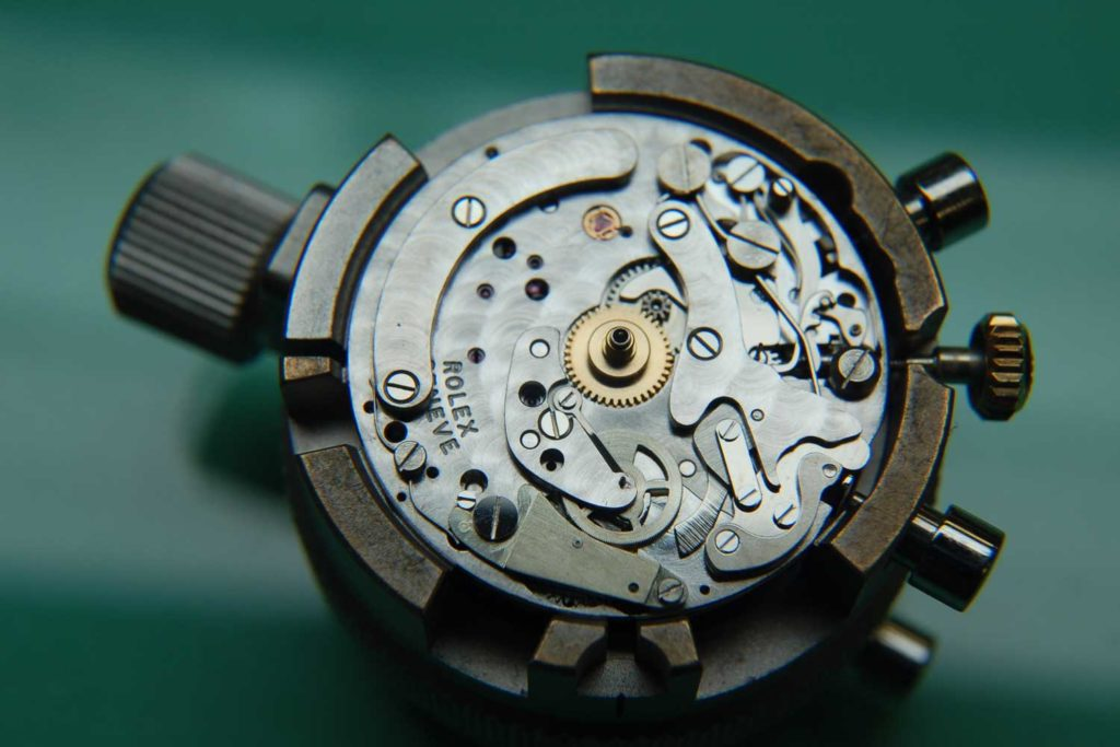 The 722 movement seen from the dial side