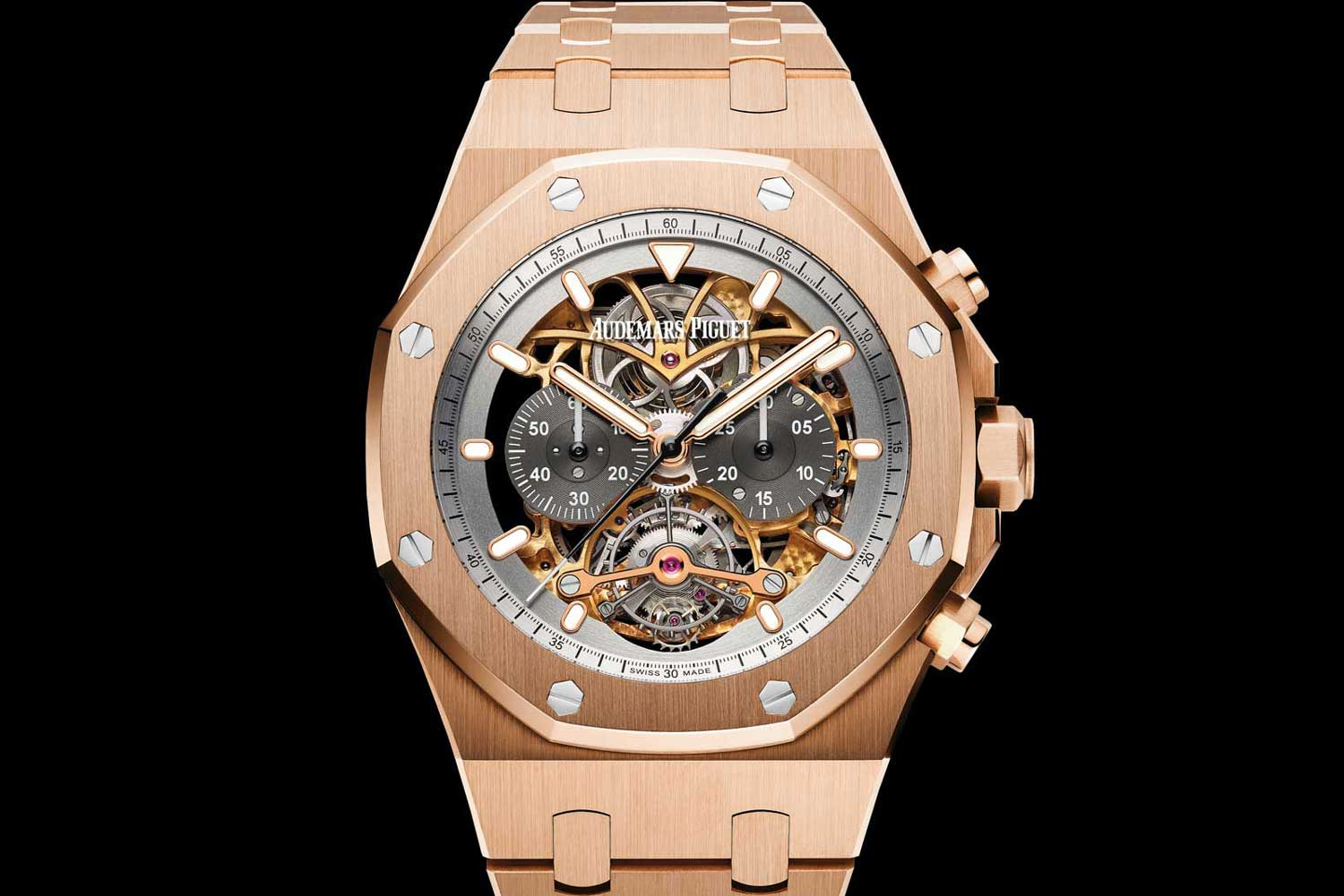 Audemars Piguet Royal Oak Tourbillon Chronograph Openworked in Rose Gold