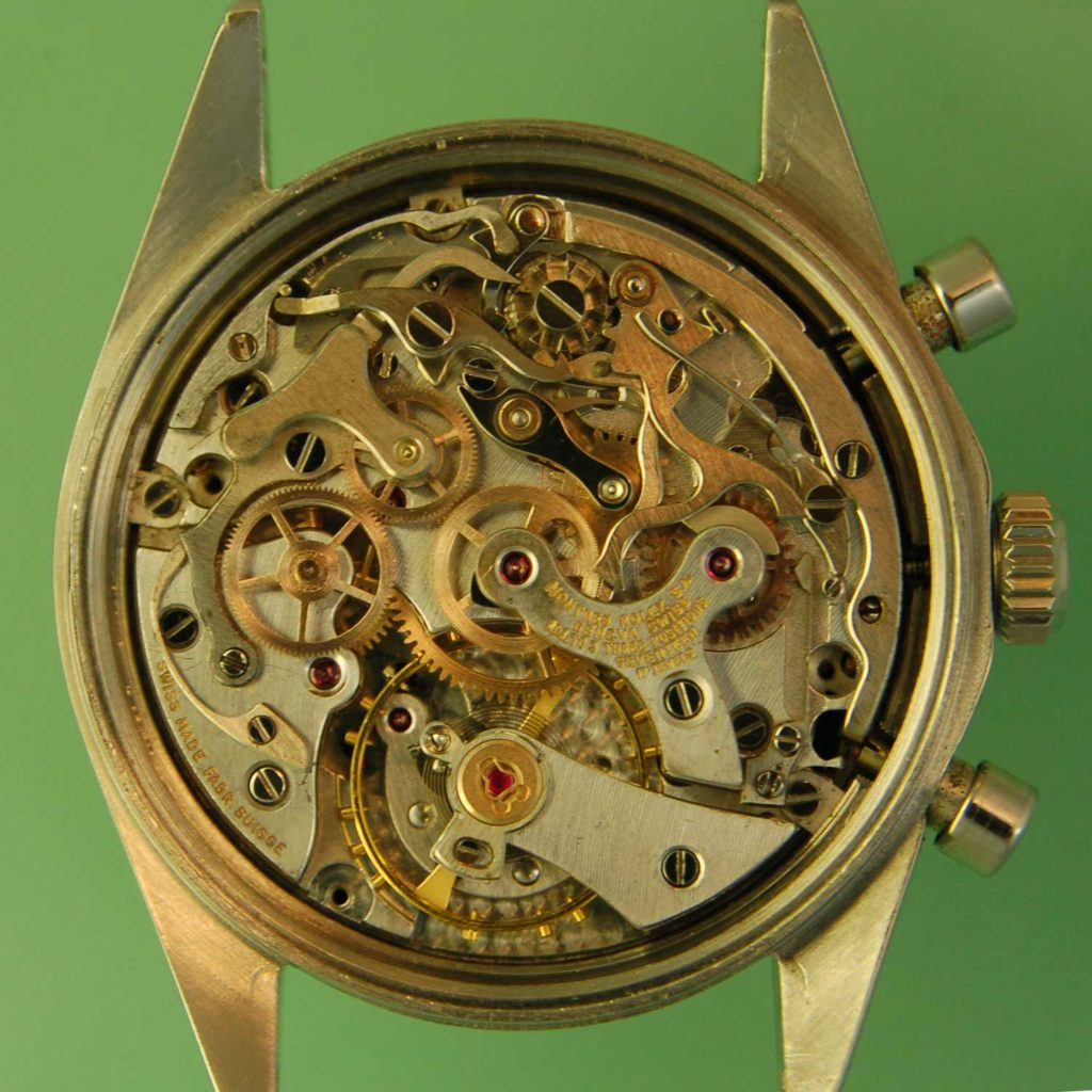 The movement of the 6239 Paul Newman Daytona after it had been serviced