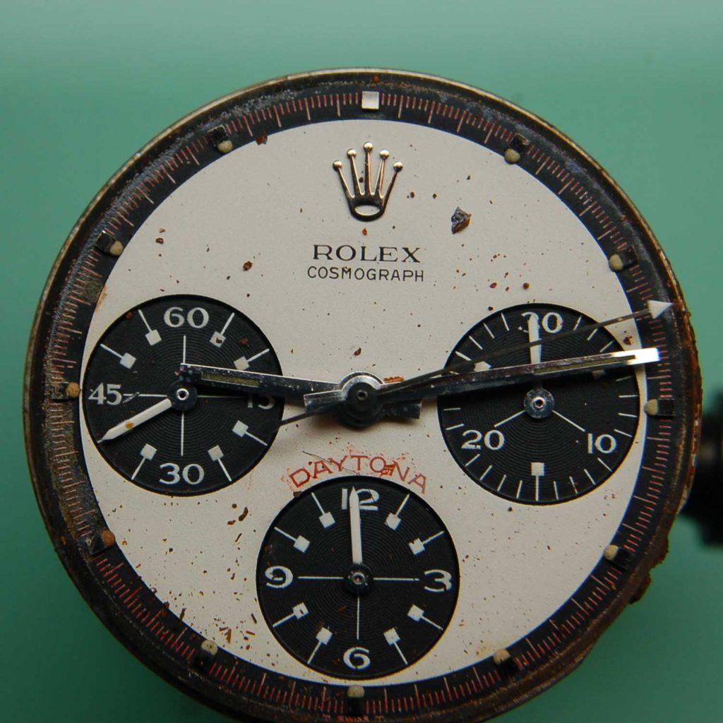 Rusted dial of the Paul Newman Daytona 6239