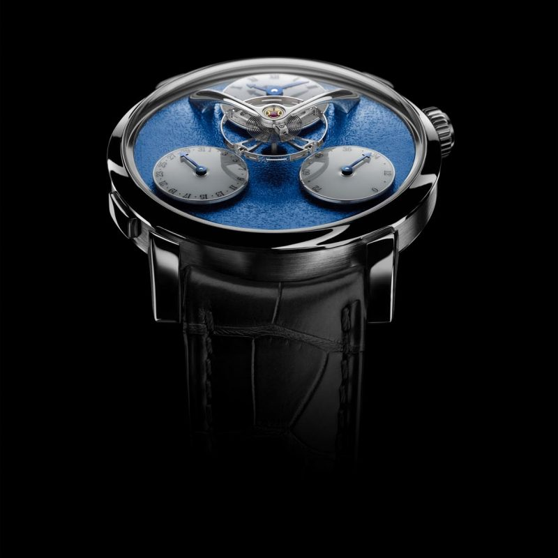 MB&F Legacy Machine 'Split Escapement' with a blue frost dial