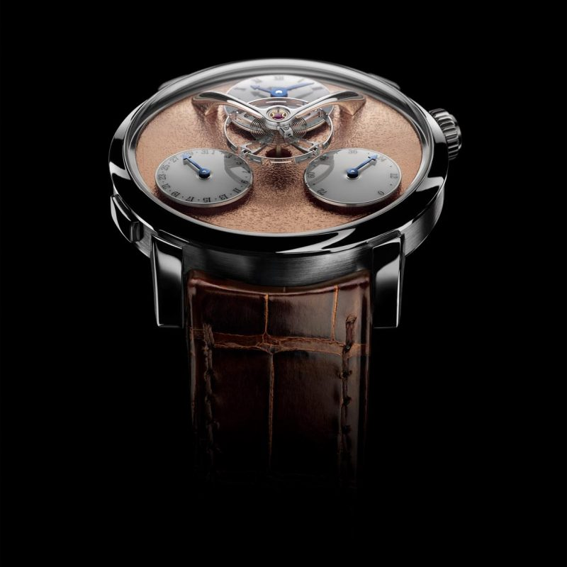 MB&F Legacy Machine 'Split Escapement' with a red gold frost dial