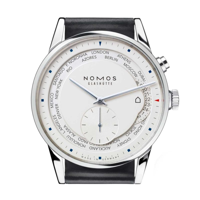 "The Nomos Zürich Weltzeit with the ""hut"" icon"