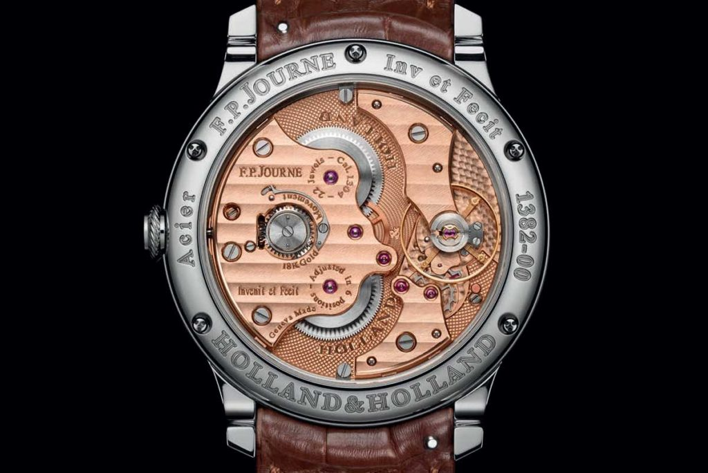 The movement of the F.P. Journe Chronomètre Holland & Holland