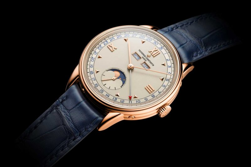 The blue accented dial variation of the new for 2017 Historiques Triple calendrier 1948 watch