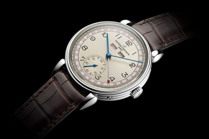 The red accented dial variation of the new for 2017 Historiques Triple calendrier 1942 watch
