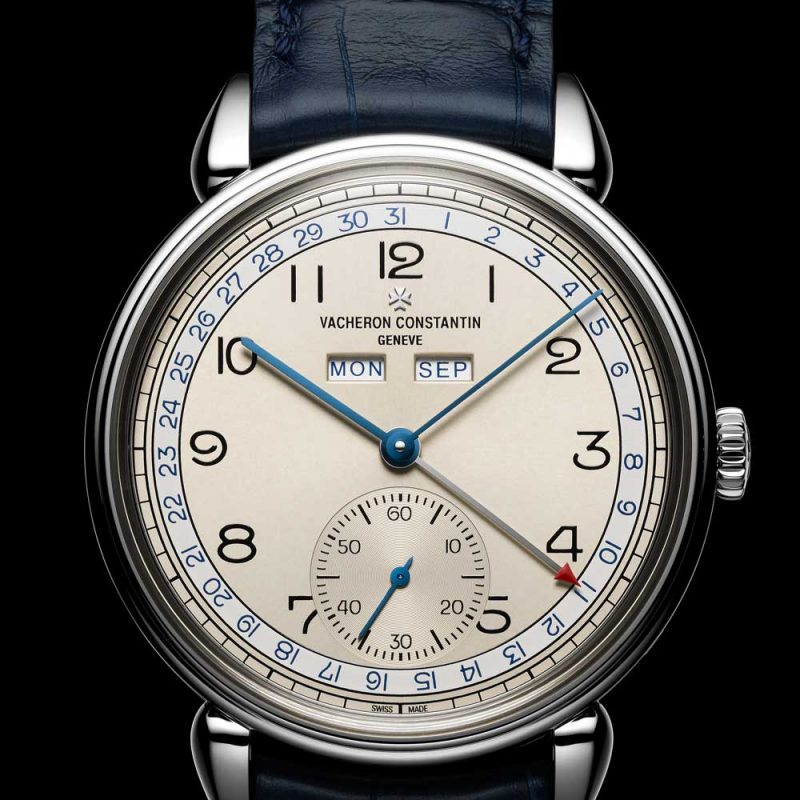 The blue accented dial variation of the new for 2017 Historiques Triple calendrier 1942 watch