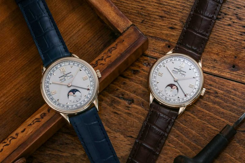 The two dial variations of the new for 2017 Historiques Triple calendrier 1948 watches