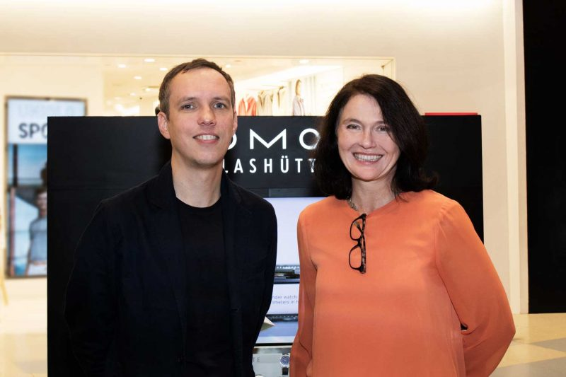 Thomas Höhnel of Berlinerblau (Nomos Glashütte's design arm) and Martina Etti, Head of International Sales, Nomos Glashütte