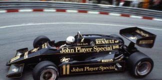 One of the most celebrated liveries in Formula 1 history: The Team Lotus' 'John Player Special'