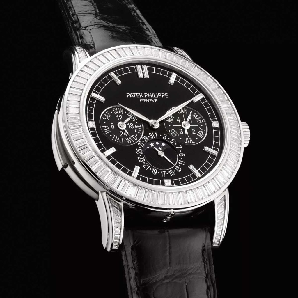 Patek Philippe diamond-set minute repeating perpetual calendar wristwatch with moon phases ref. 5073P-001 (Image: PhillipsWatches.com)