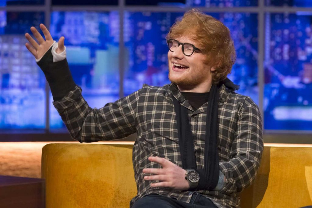 Ed Sheeran wearing an Audemars Piguet Royal Oak GMT Tourbillon Concept