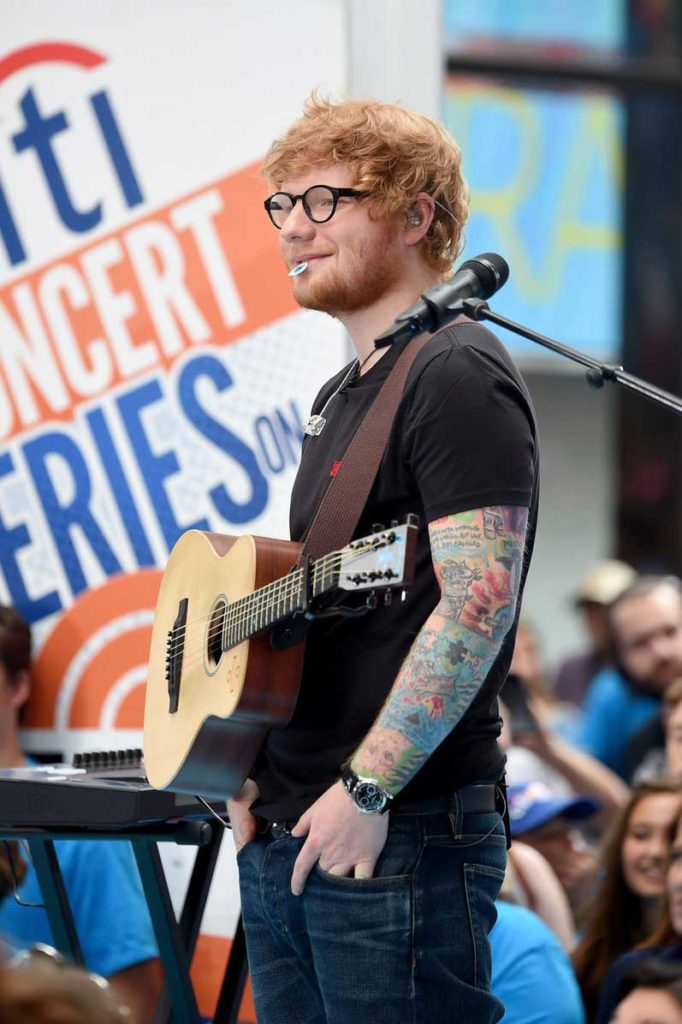 Ed Sheeran wearing the Patek Philippe ref. 5370 split-seconds chronograph