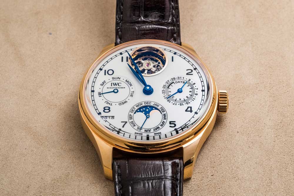 "Portugieser Perpetual Calendar Tourbillon Edition ""150 Years"" in 18K red gold (© Revolution)"