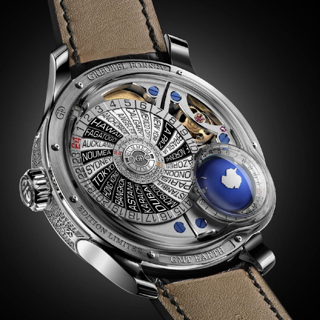 Caseback of the Greubel Forsey GMT Earth