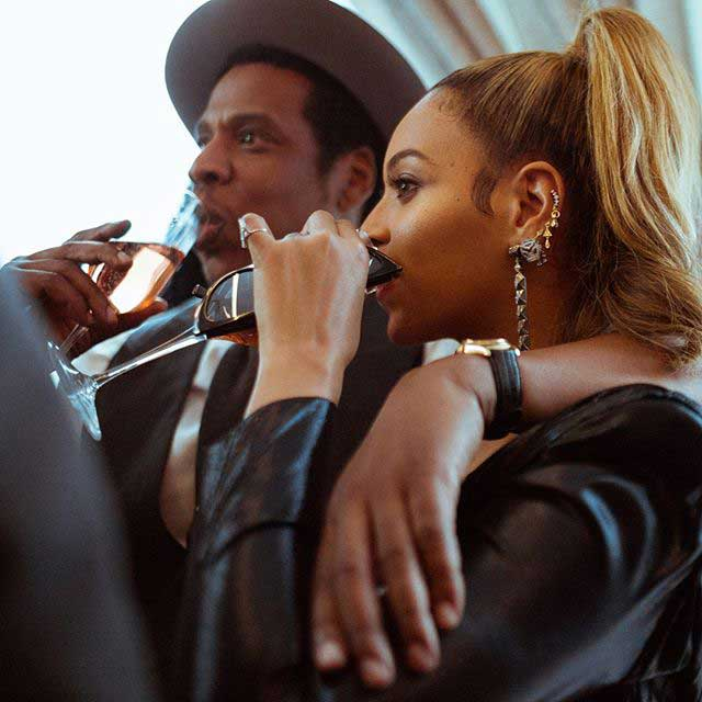 Jay-Z with his wife Beyoncé
