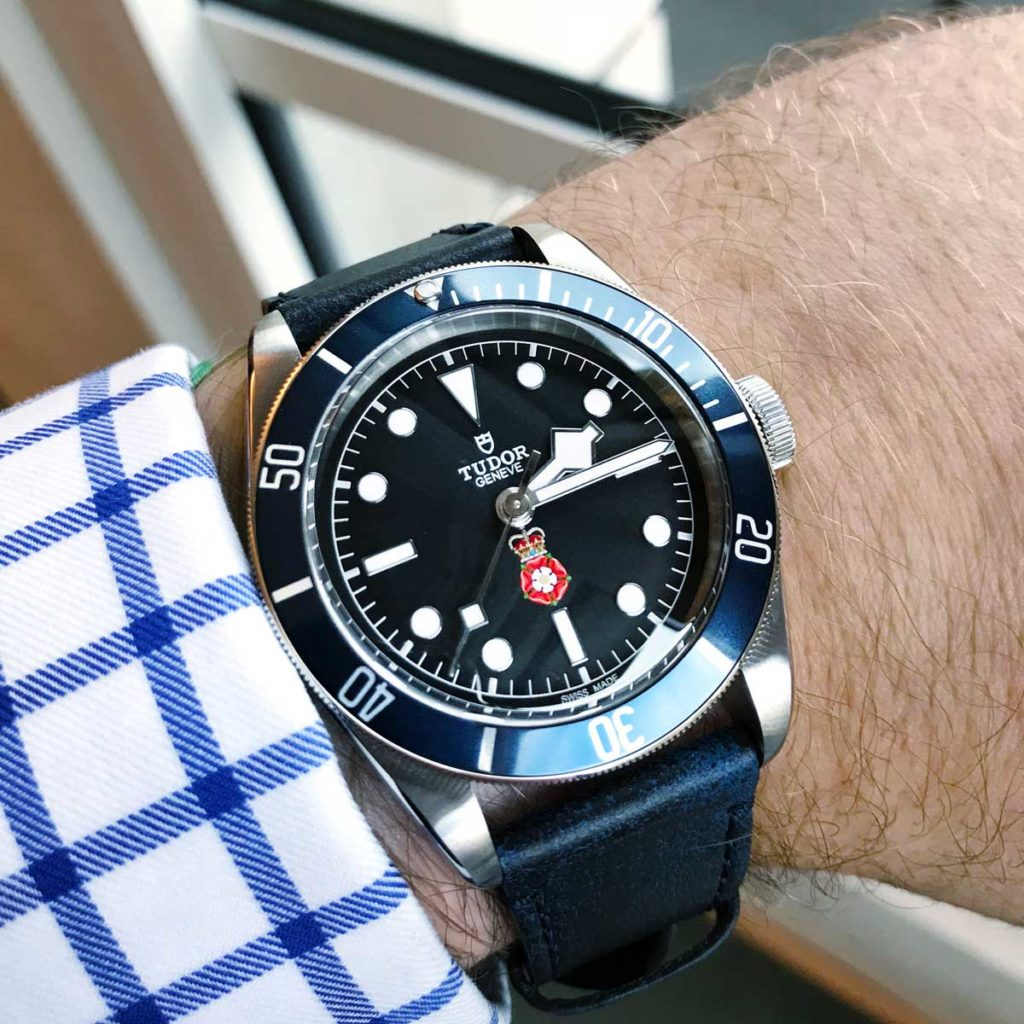 The Tudor Black Bay RaSP on Ross' wrist (© Ross Povey)
