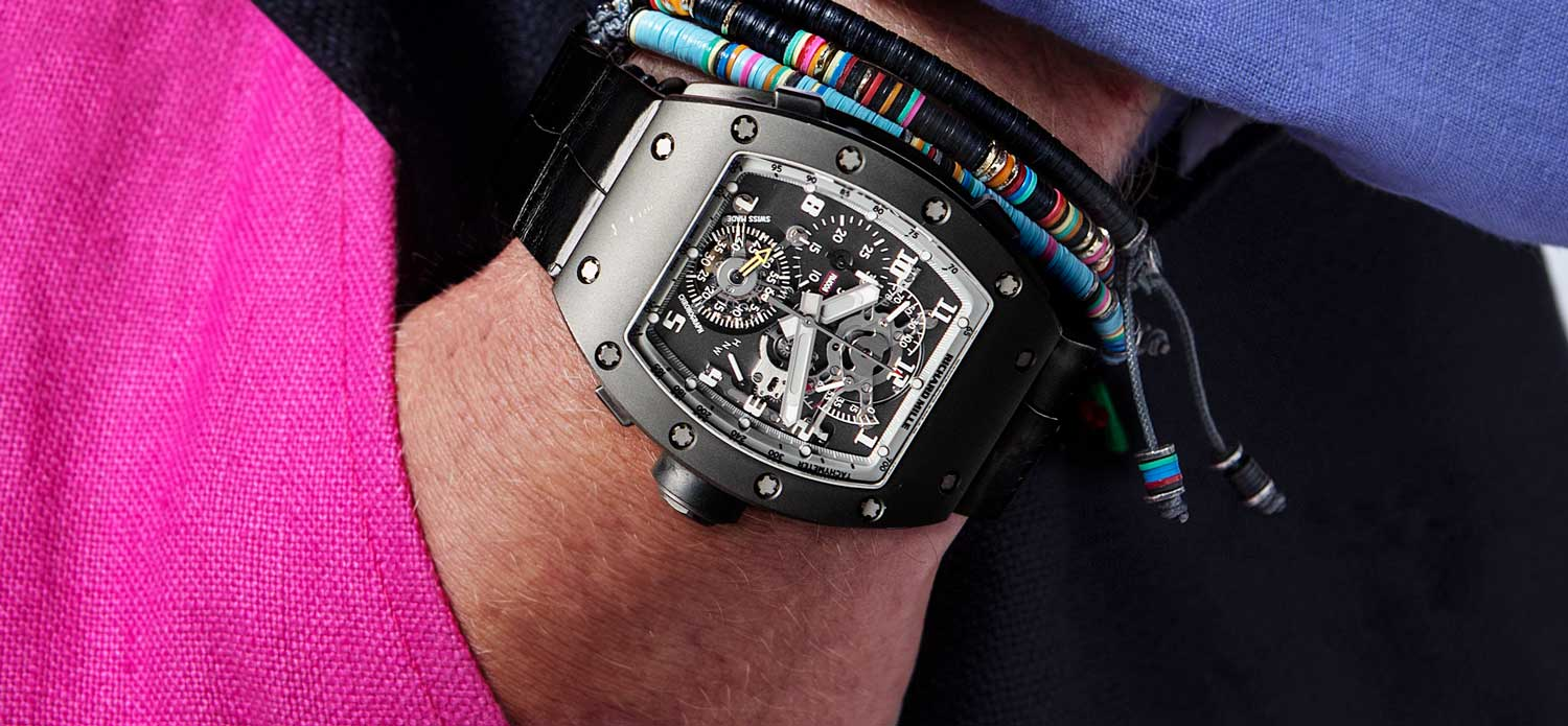 The Richard Mille RM 008 Split Second Chronograph Piece Unique DLC Titanium made for Chronopassion (Image © Revolution)