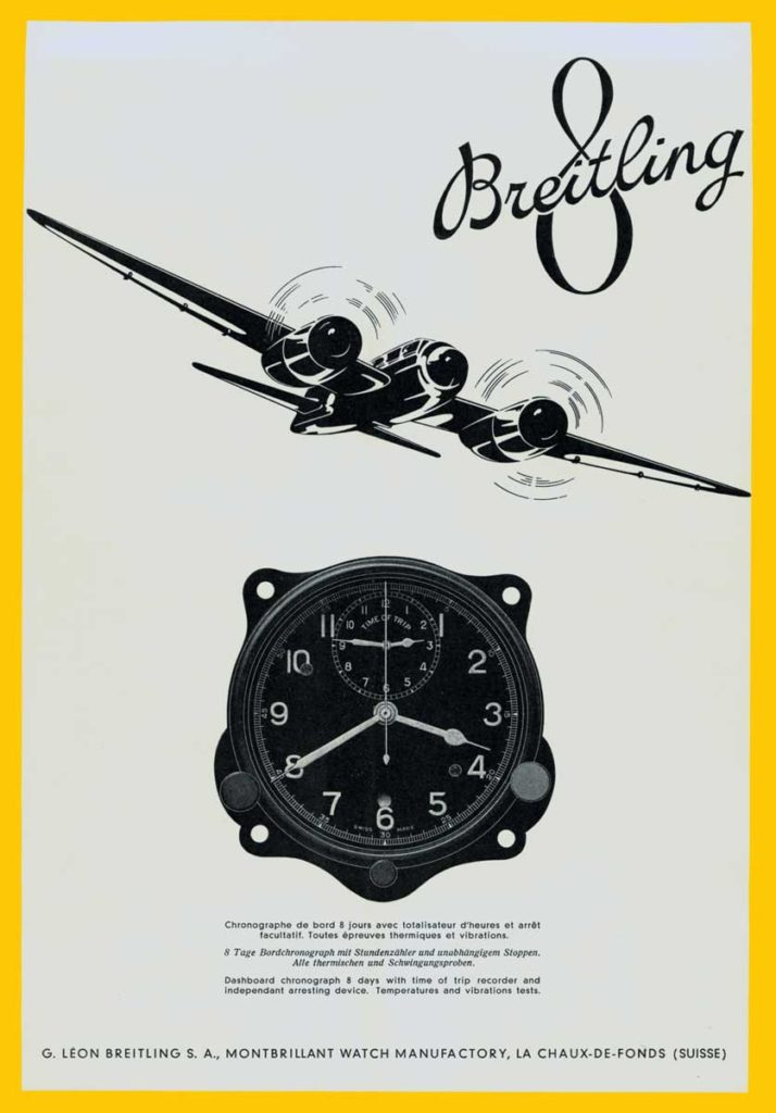 1941 advertisement for the Huit Aviation Department. (PPR/Breitling)