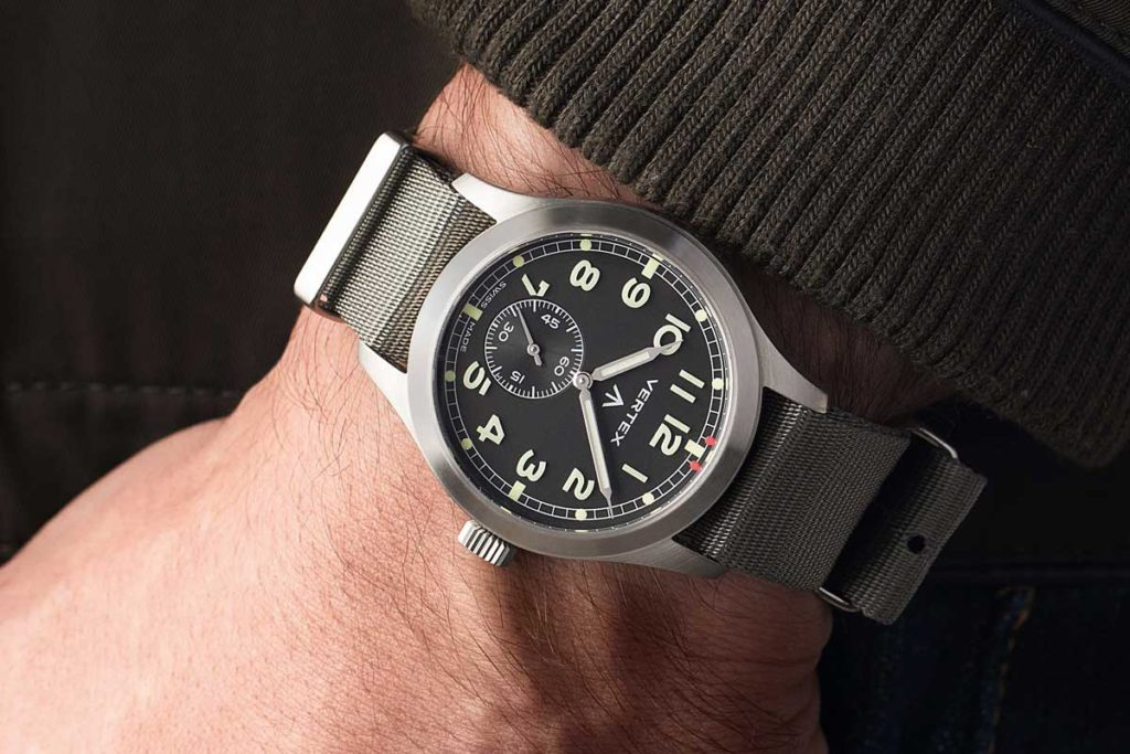 The Vertex M100 on the wrist (Image © Revolution)