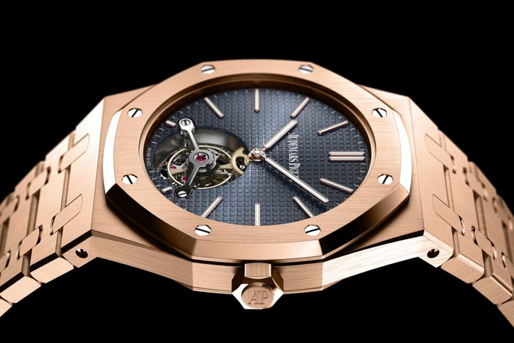 2012 Royal Oak Tourbillon Extra-Thin in pink gold, created for the Royal Oak's 40th anniversary