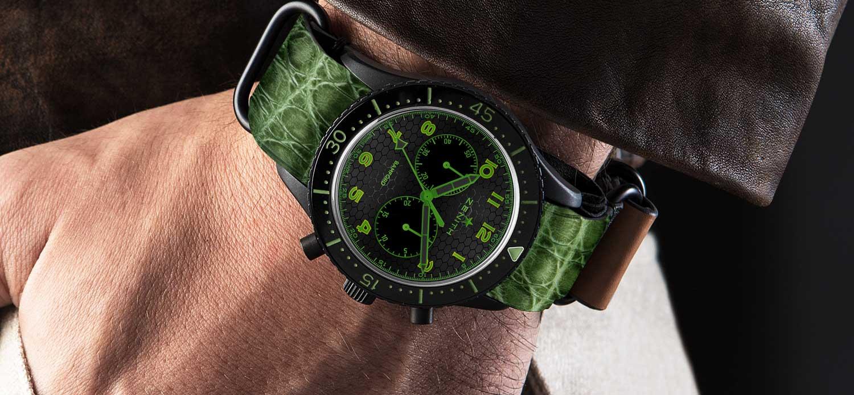 Zenith TIPO CP-2 Green Bamford x Revolution (Image © Revolution)