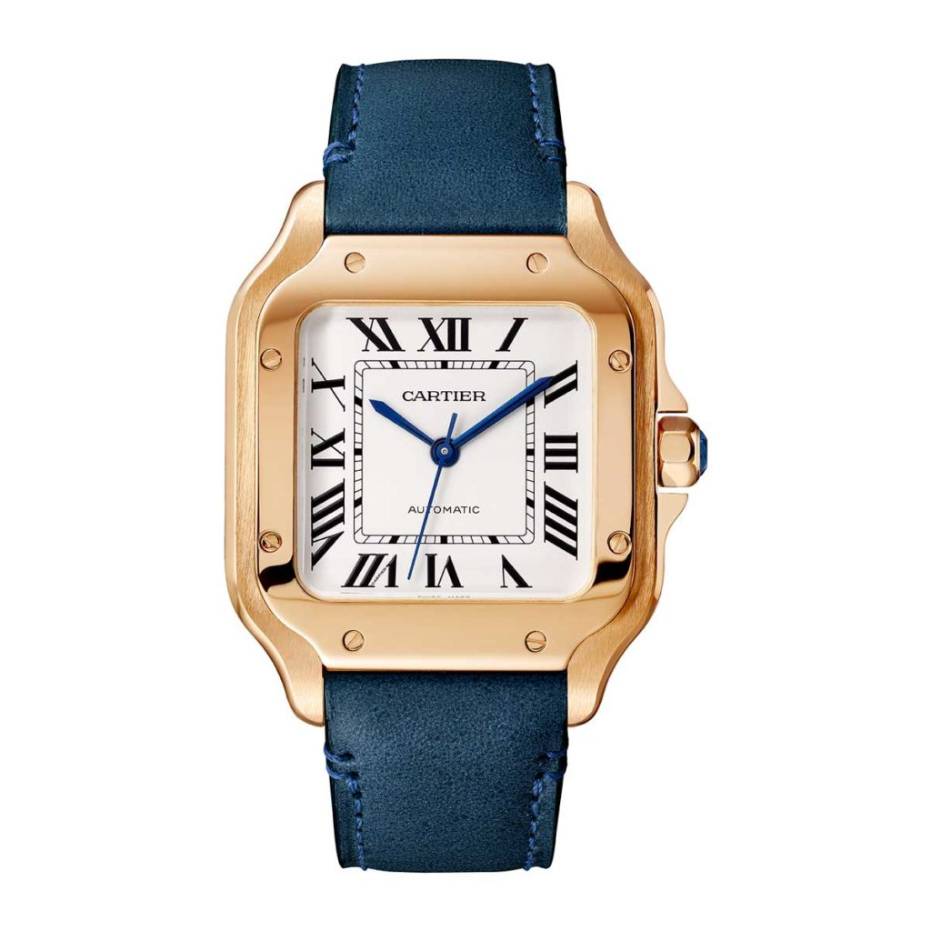 Medium 2018 Cartier Santos in pink gold (©Cartier)