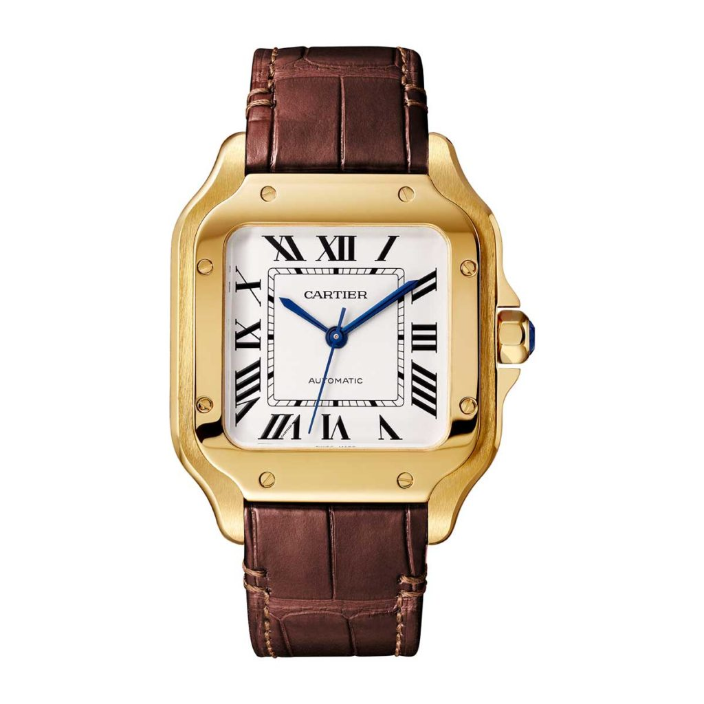 Medium 2018 Cartier Santos in yellow gold (©Cartier)