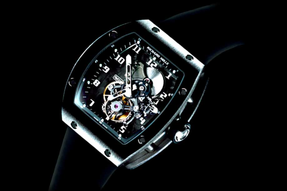 This RM 006 the first Richard Mille with a carbon fiber base plate survived a massive crash on the wrist of F-1 driver Felipe Massa