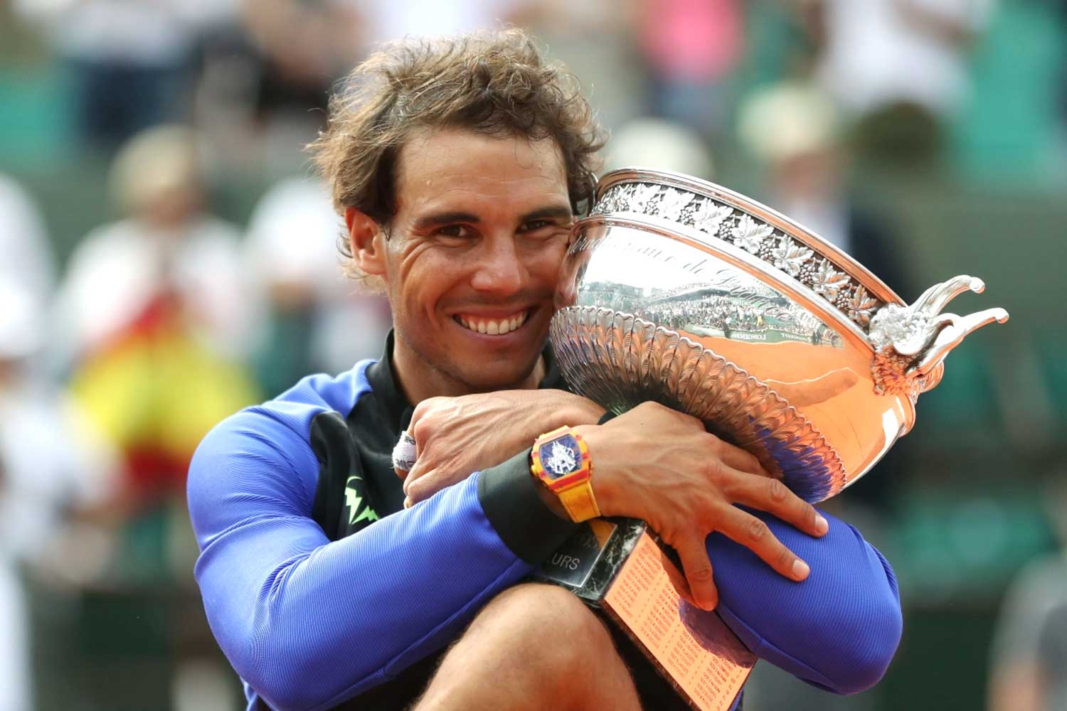 No player has dominated the French Open like Rafael Nadal. In his last six victories, he has always been accompanied by his Richard Mille watch