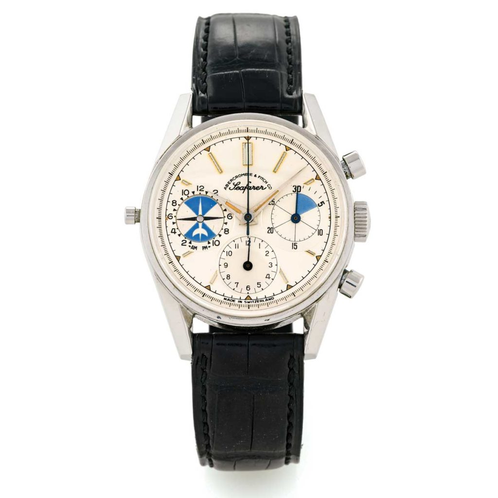 Heuer - Seafarer, retailed by Abercrombie & Fitch Co., Ref. 2447, made circa 1960 (© www. antiquorum.swiss)