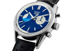 "TAG Heuer x The Rake & Revolution ""Blue Dreamer"" Carrera Chronograph (Image © Revolution)"