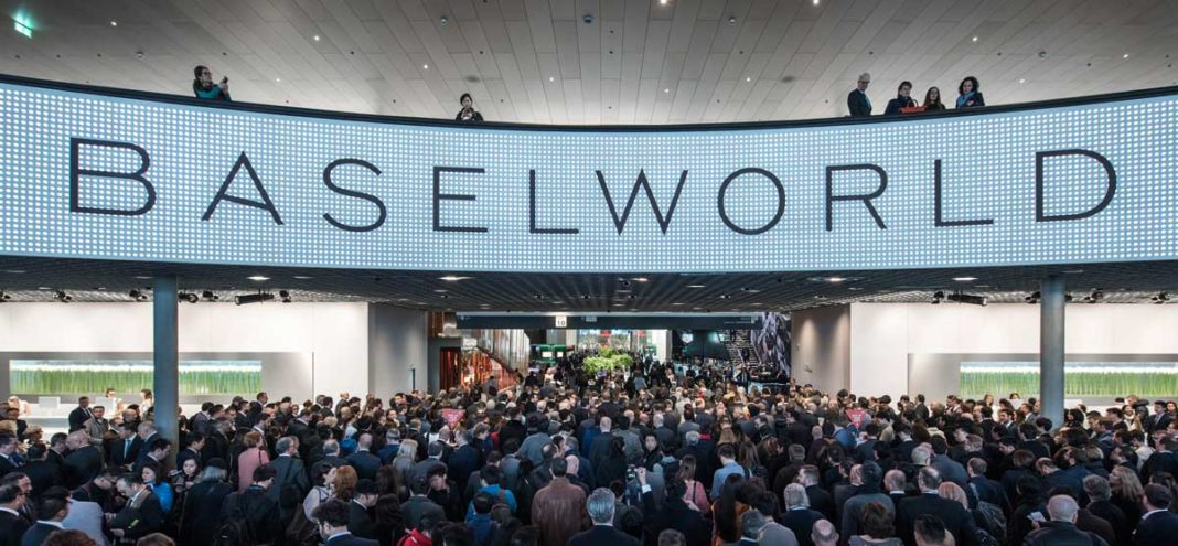 Main entrance way to Baselworld's Hall 1, where the highest ranks in the watch industry showcase their new watches for the year ahead