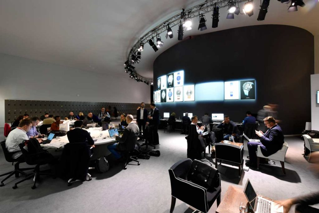 Robust press room with high speed internet, wired and wireless; all desks equipped with USB charging ports and power points that are able to take in a variety of plugs
