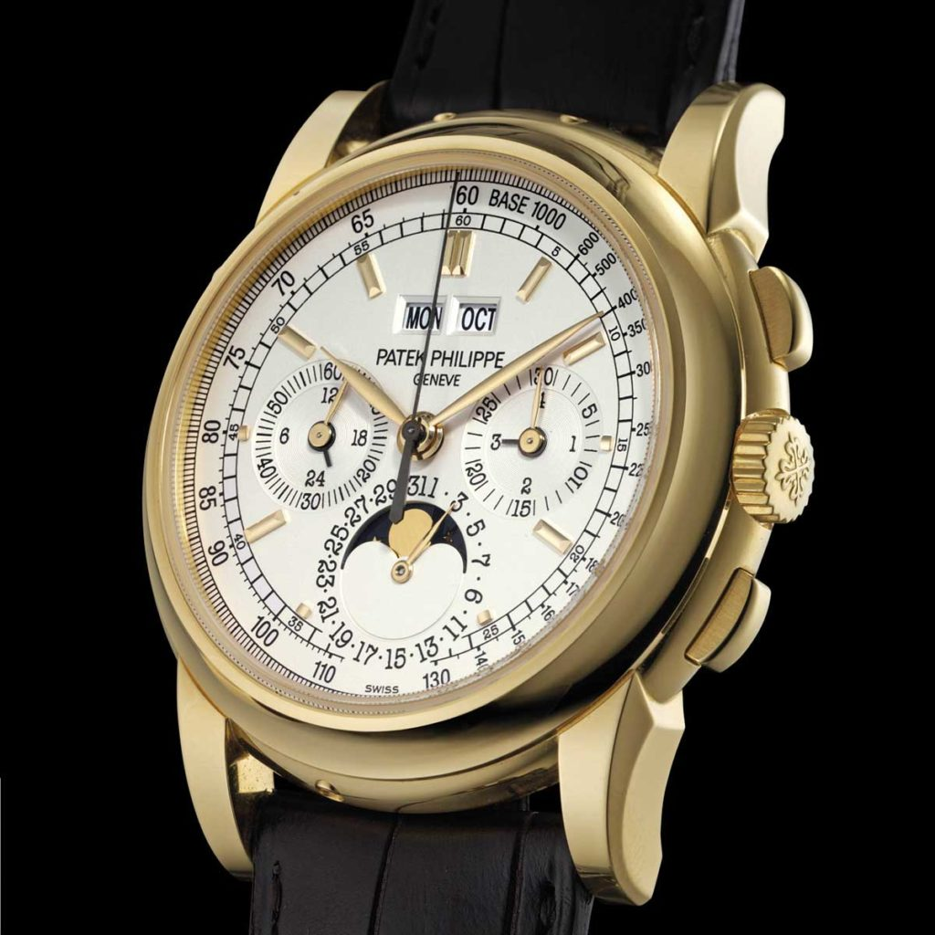 A Patek Philippe ref. 5970 perpetual calendar chronograph in 18k yellow gold sold by Christies for approximate USD 125,000 in 2011 (Image: christies.com)