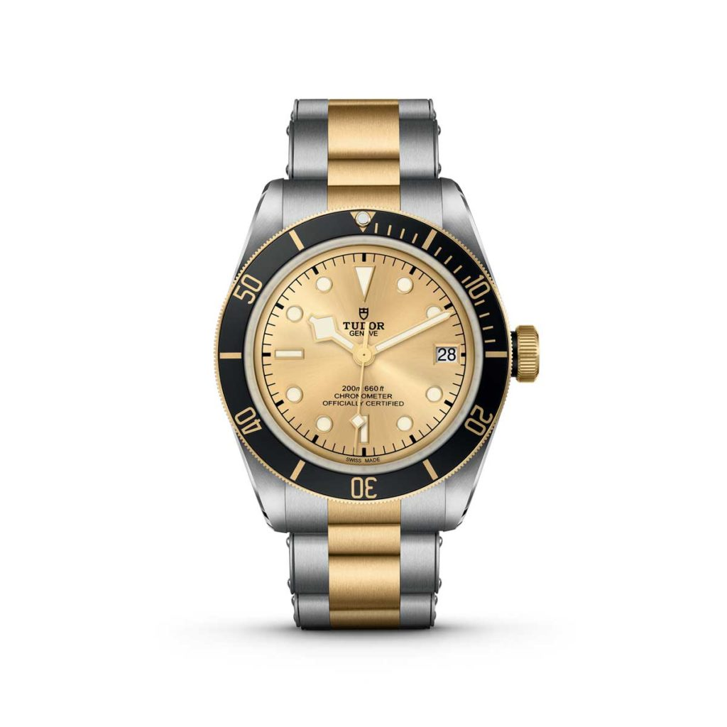 The 2018 champagne dial Black Bay S&G on a steel and yellow-gold bracelet