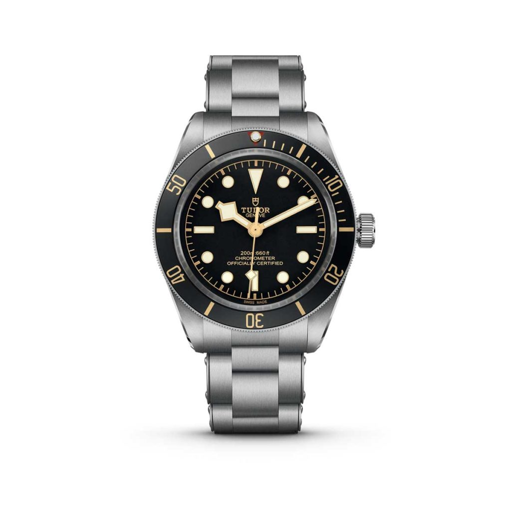 The Black Bay Fifty-Eight on a riveted steel bracelet