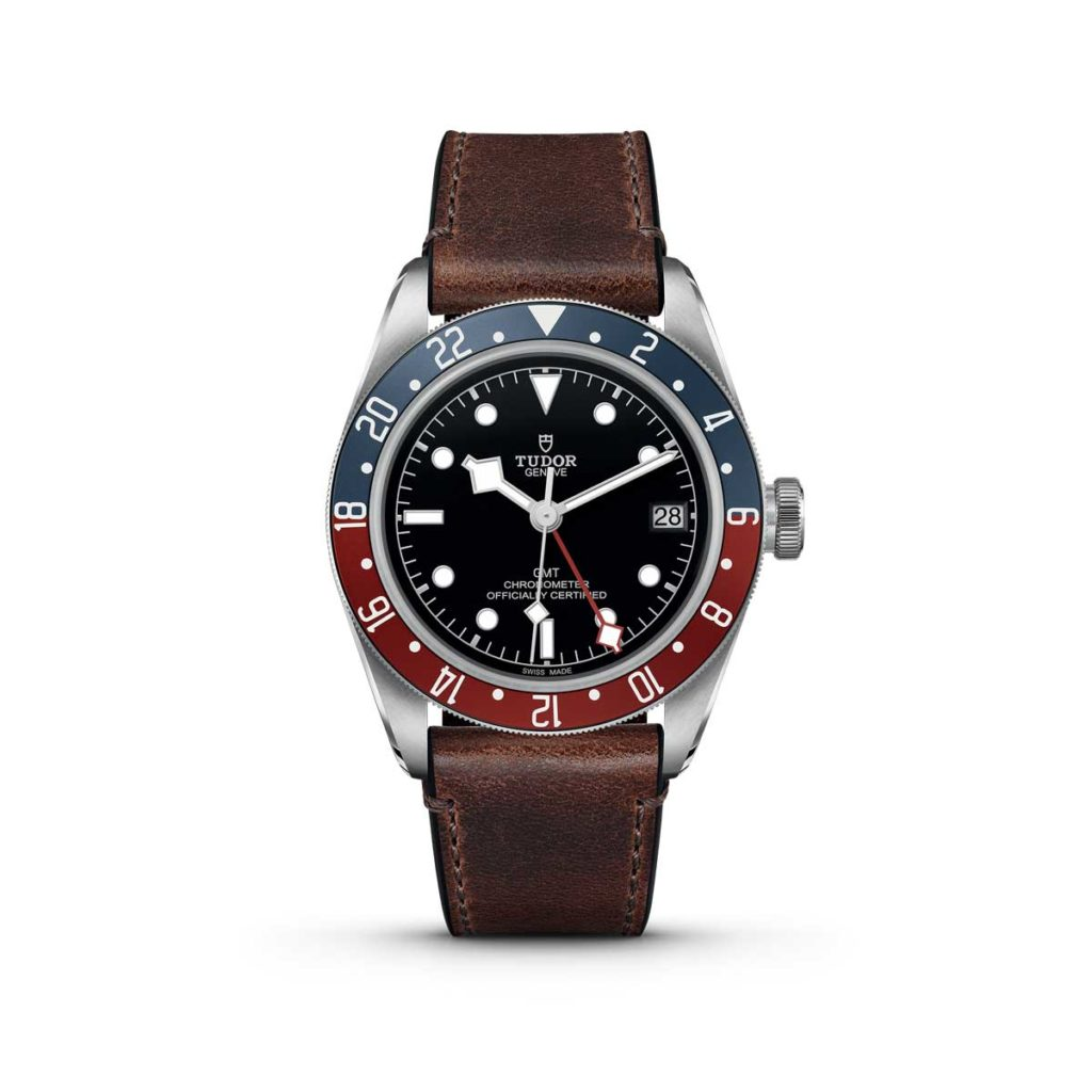 "The Tudor Black Bay GMT on a ""Terra di Siena"" brown leather strap"