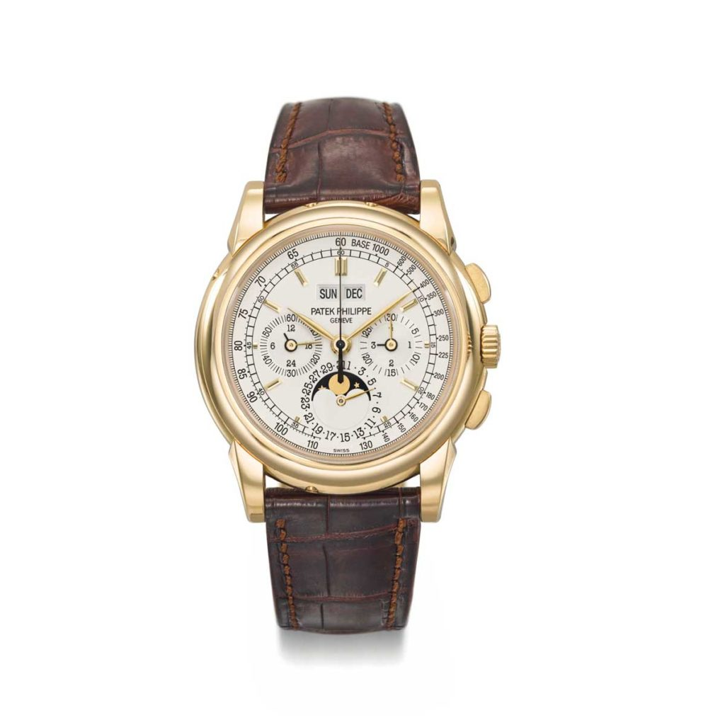 The Patek Philippe ref. 5970 in yellow gold (Image: christies.com)