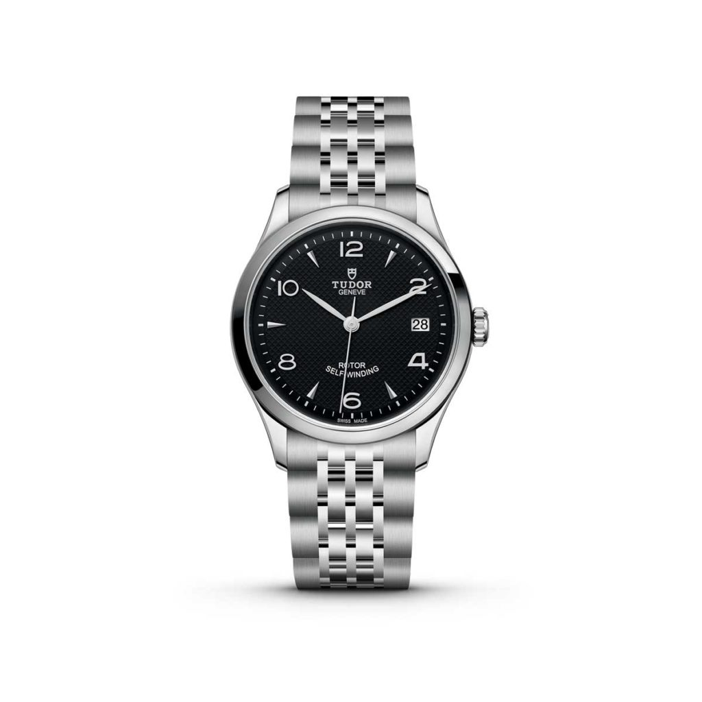 The Tudor 1926 with a 36mm steel case and a black dial