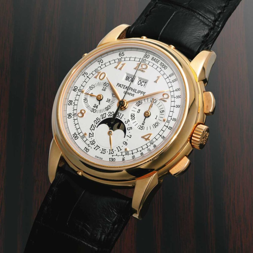 Eric Clapton's unique pink-gold 5970 with Breguet numerals sold by Sotheby's in May of 2015 for CHF 406,000 (Image: sothebys.com)