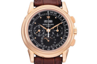 "A rare pink gold ""end-of-series"" Patek Philippe 5970 that was part of Chrisite's May 2014, Hong Kong but later withdrawn (Image: christies.com)"