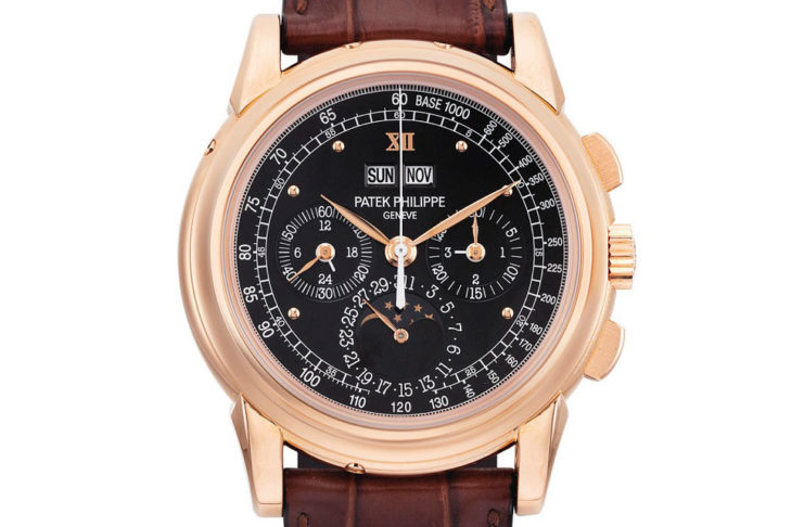 """A rare pink gold """"end-of-series"""" Patek Philippe 5970 that was part of Chrisite's May 2014, Hong Kong but later withdrawn (Image: christies.com)"""