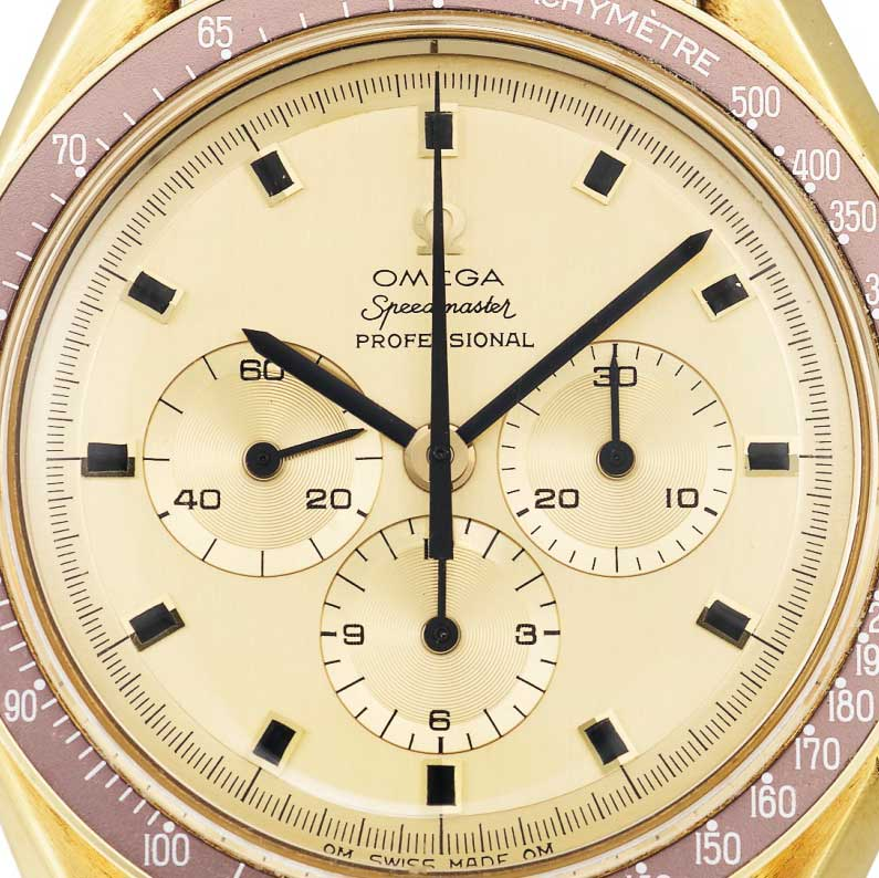 """The Speedmaster BA 145.022 with an oval """"O"""" in the Omega inscription (Image: sothebys.com)"""