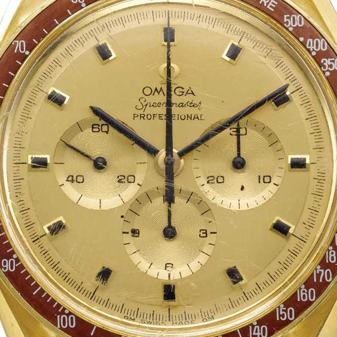 """The Speedmaster BA 145.022 with a round """"O"""" in the Omega inscription (Image: sothebys.com)"""