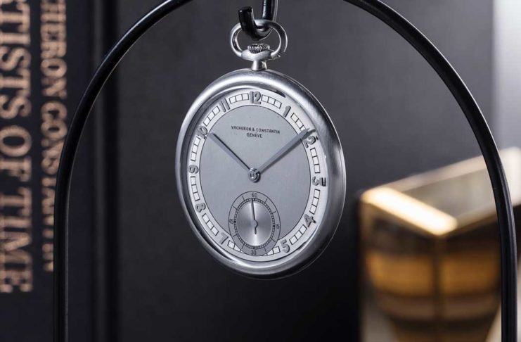 A Vacheron Constantin platinum open-face pocket watch from 1931, part of the maison's Les Collectionneurs collection