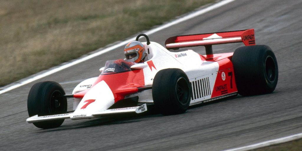 The McLaren MP4/1 of 1981, designed by John Barnard was the first to use a carbon fibre monocoque