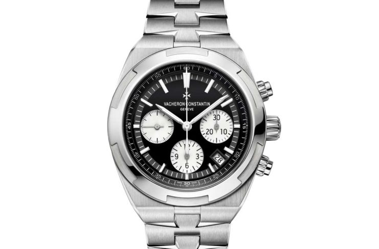 The Vacheron Constantin Overseas Chronograph with a black dial (5500V/110A-B481)
