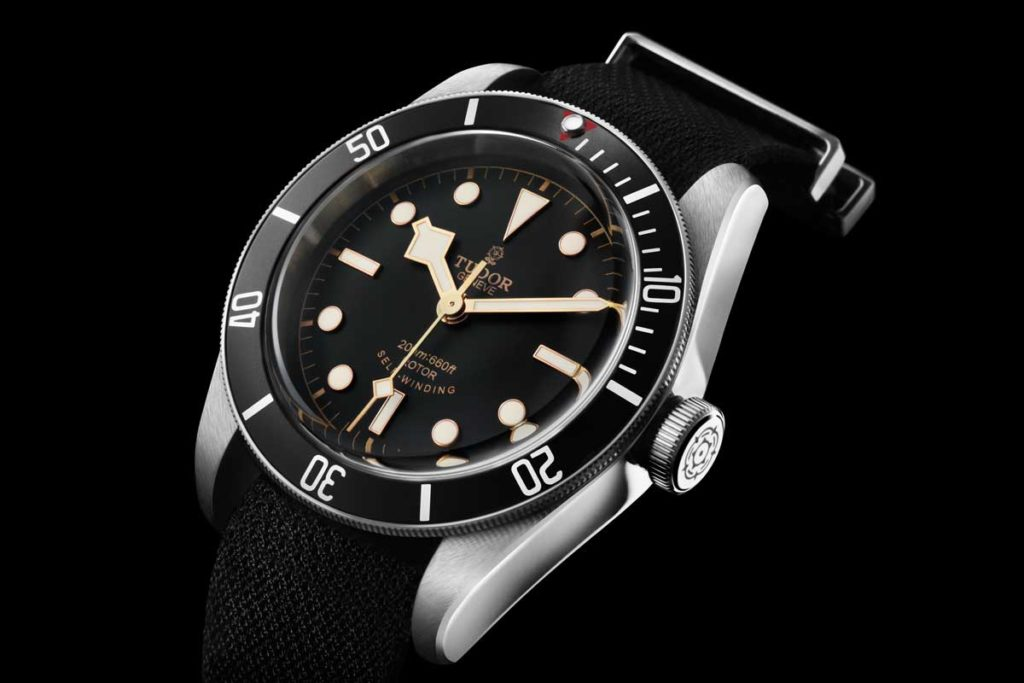 The 2015 black Heritage Black Bay was in the market only until Baselworld of 2016 when a new generation of the Black Bay was introduced with a new dial and a new in-house movement. This particular version of the Black Bay was made for a very brief time, which therefore makes it a rare piece that many Tudor collectors passionately hunt for.