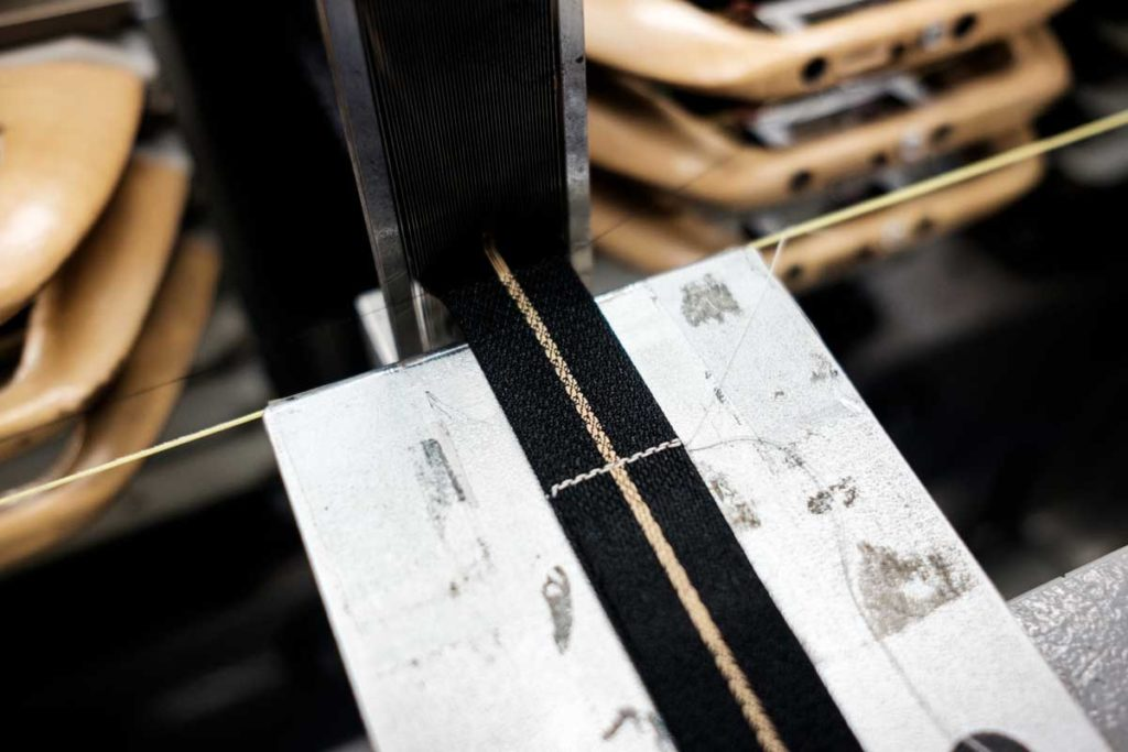The Tudor Black Bay Fifty-Eight's fabric strap being made on Julien Faure's loom machine (© Revolution)